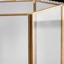 Photophore structure en métal et verre H13,5 cm-SAVIO