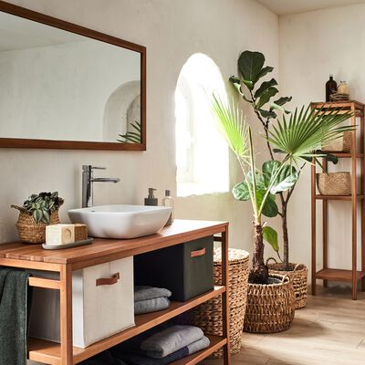 Miroir double en acacia - L130xl60 cm-MORGIOU