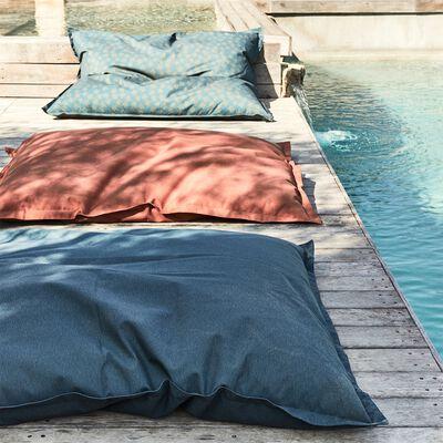 Pouf d'extérieur à motifs - bleu figuerolles 150x130cm-Varenne