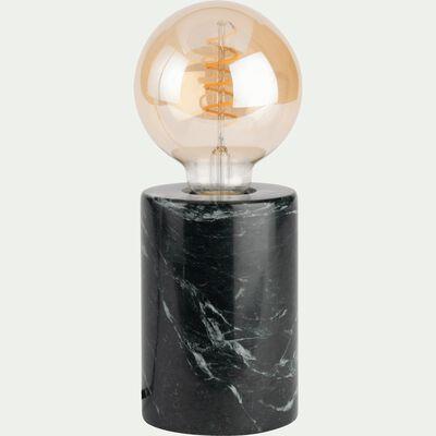 Lampe en marbre vert H12,5xD9cm-PRAO
