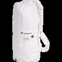drap housse en coton lavé blanc 90x200 cm-CALANQUES