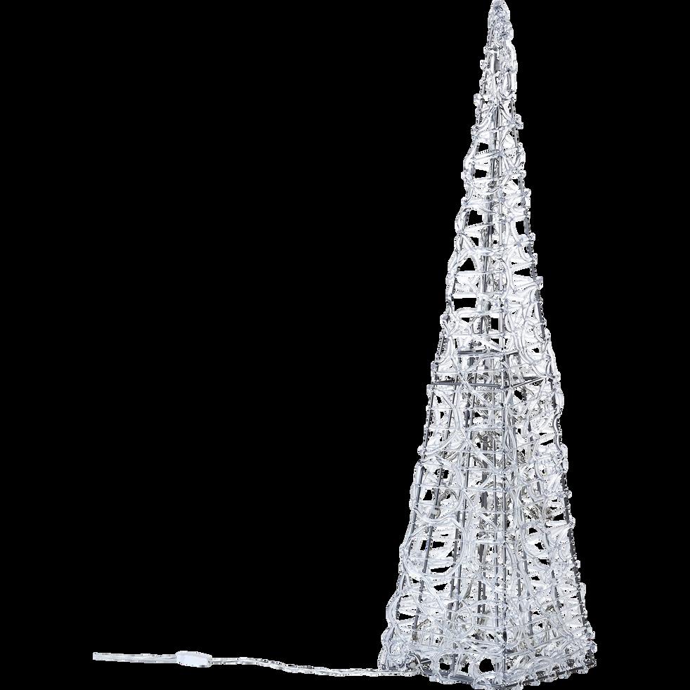 Pyramide lumineuse LED blanche H90cm-Pyramide le