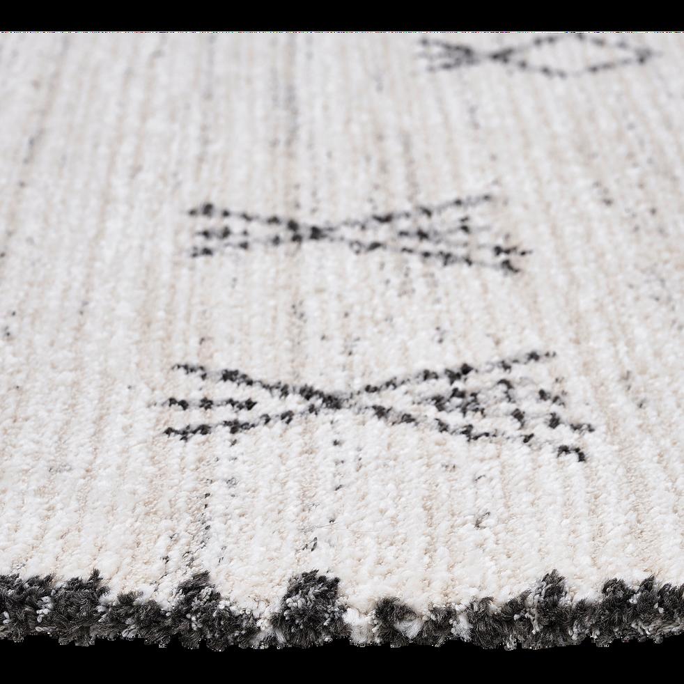 Tapis inspiration berbère - écru et noir 120x170cm-Aydan