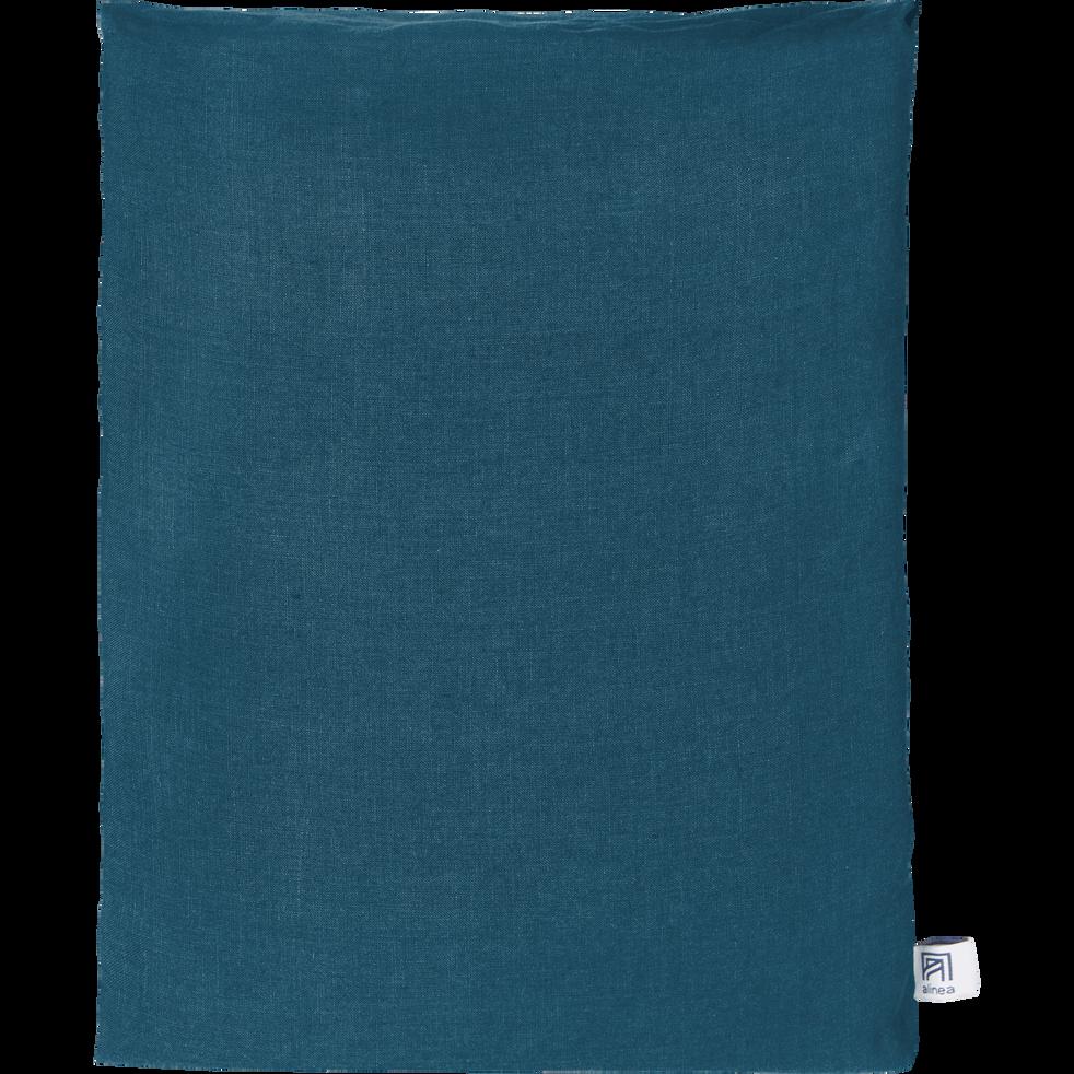 drap plat en lin bleu figuerolles 270x300 cm vence 270x300 cm promotions alinea. Black Bedroom Furniture Sets. Home Design Ideas