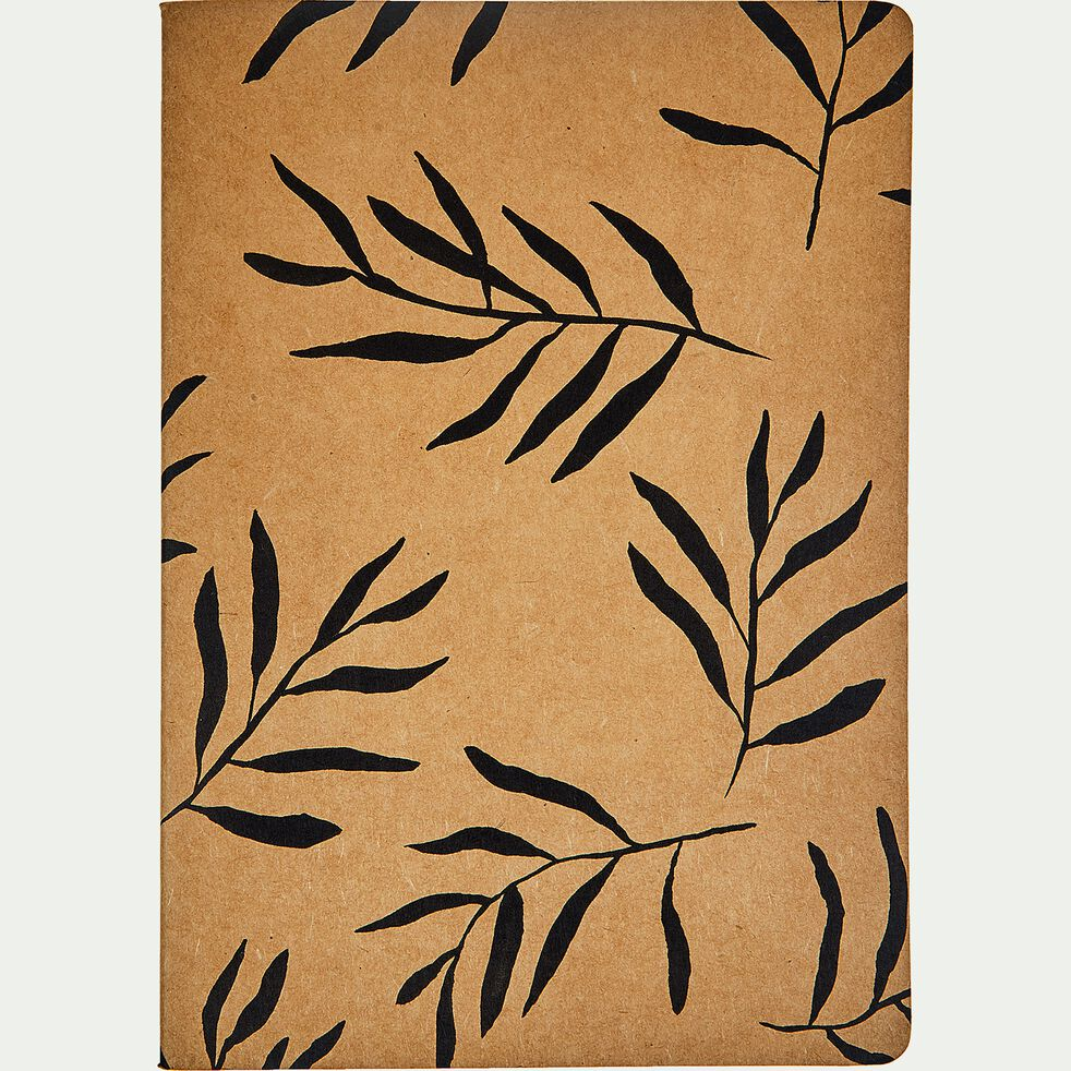 Carnet format A5 motif floral - naturel-ALOYSE
