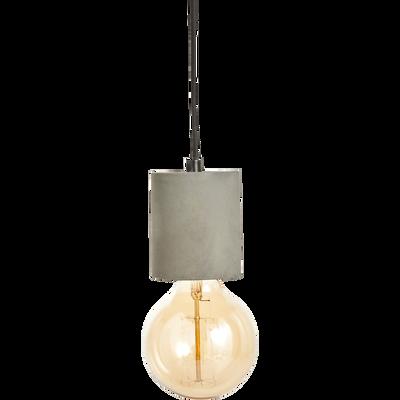 Suspension en béton gris borie H8,5xD6,5cm-PRAO