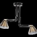 Suspension en métal noir et doré 61,5x13x51,5cm-JORDA