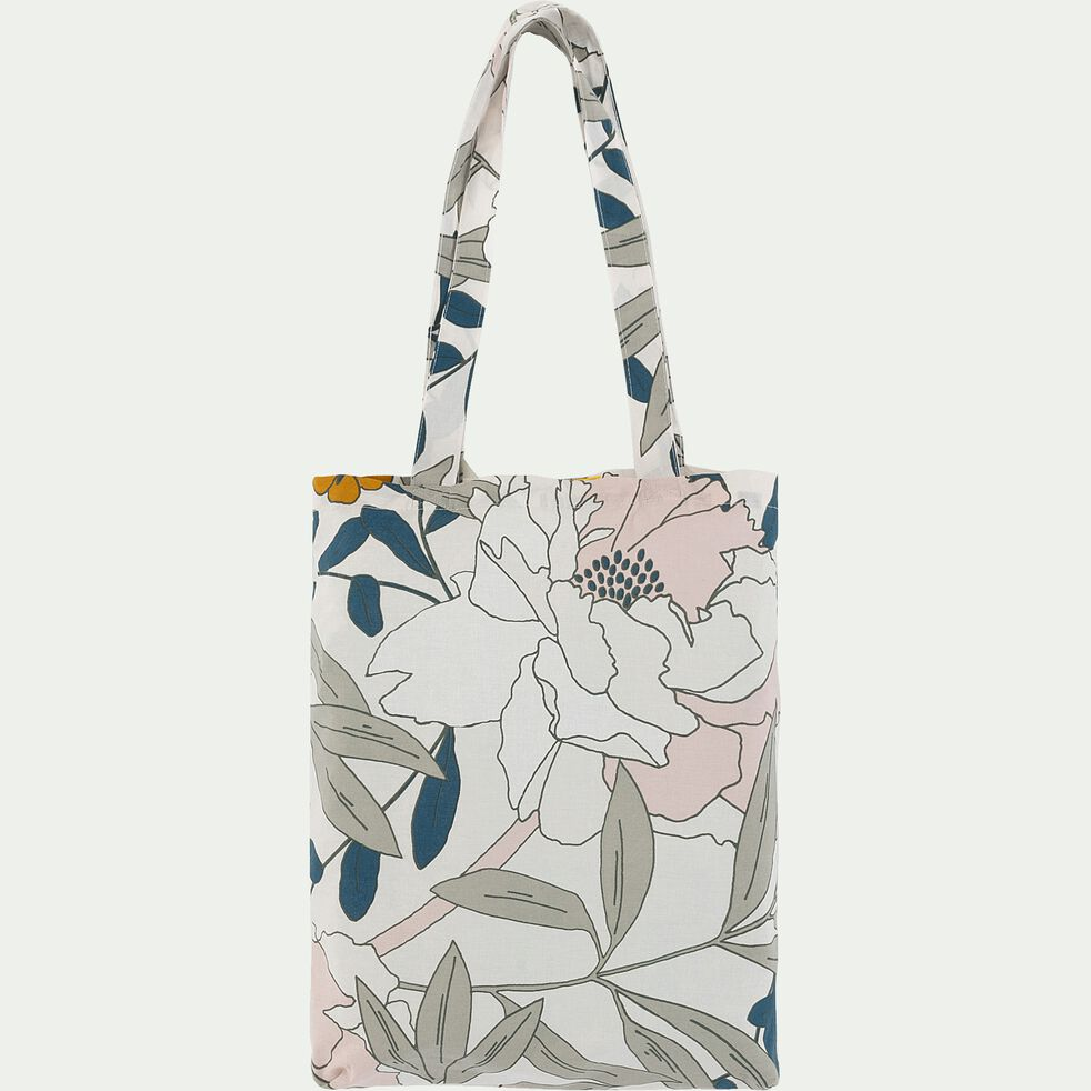 Housse de couette et 2 taies d'oreiller en coton motif floral 240X220cm-ARBOUSIER