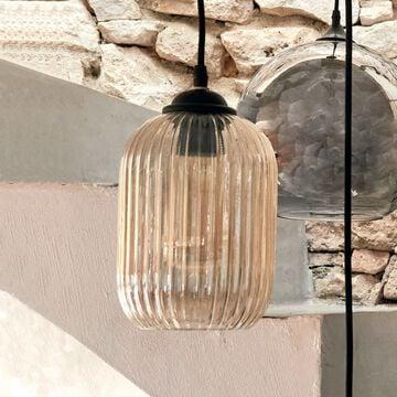 Suspension en métal et verre - D15xH122cm-ZAIA