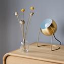 Lampe ronde en métal doré H26cm-BAOU