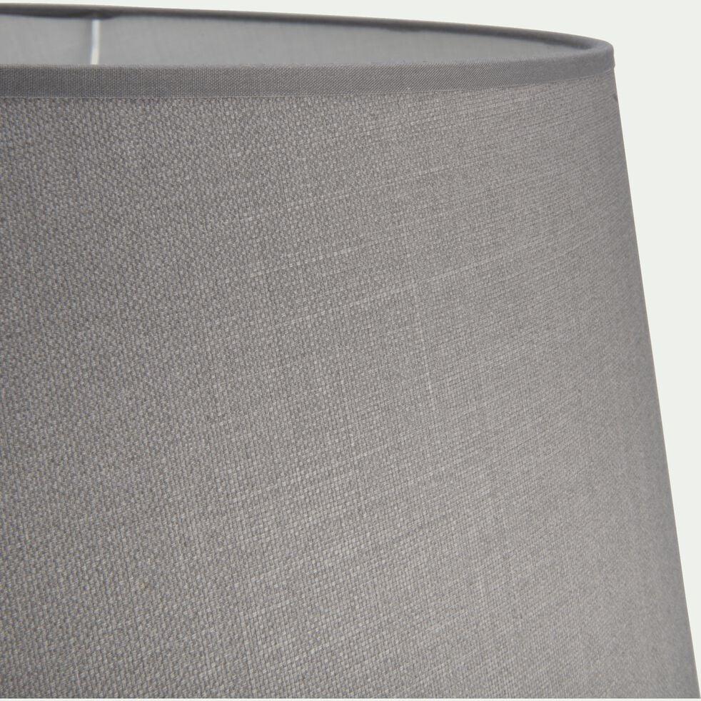Abat-jour tambour en coton - D45cm gris restanque-MISTRAL