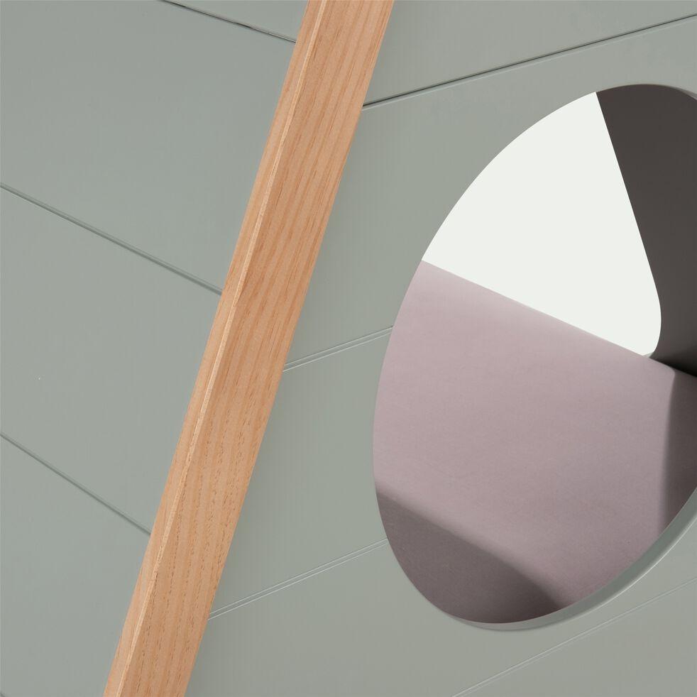 Lit  forme tipi 1 place en pin massif 90x200 cm - vert olivier-TIPI