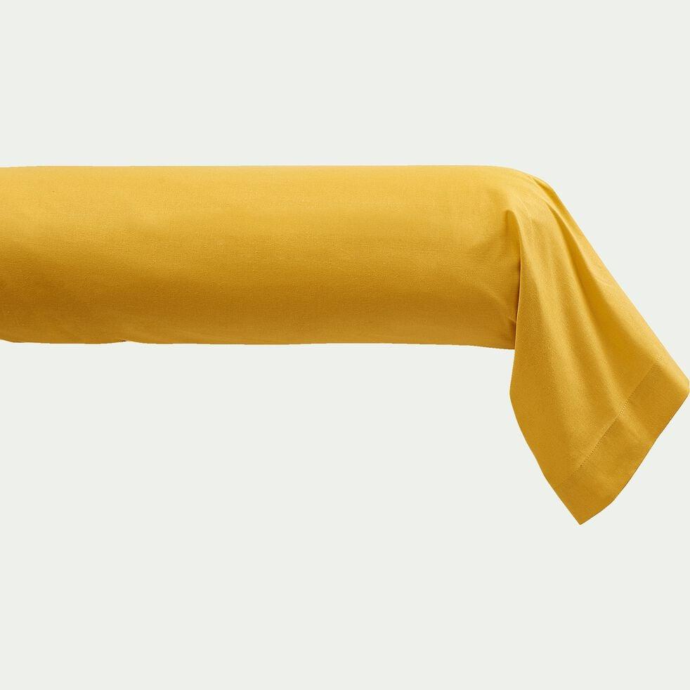 Taie de traversin en coton - jaune genet 43x190cm-CALANQUES