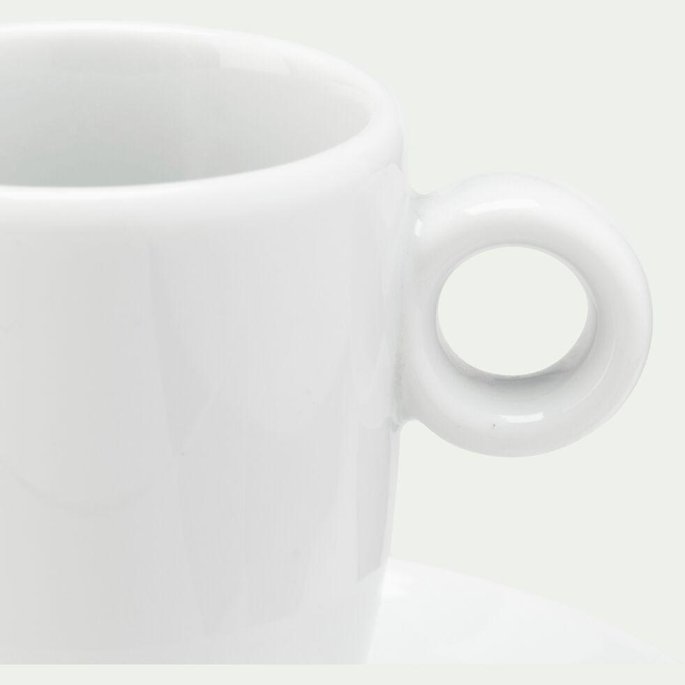 Tasse et soucoupe en porcelaine 9cl - blanc-AZE