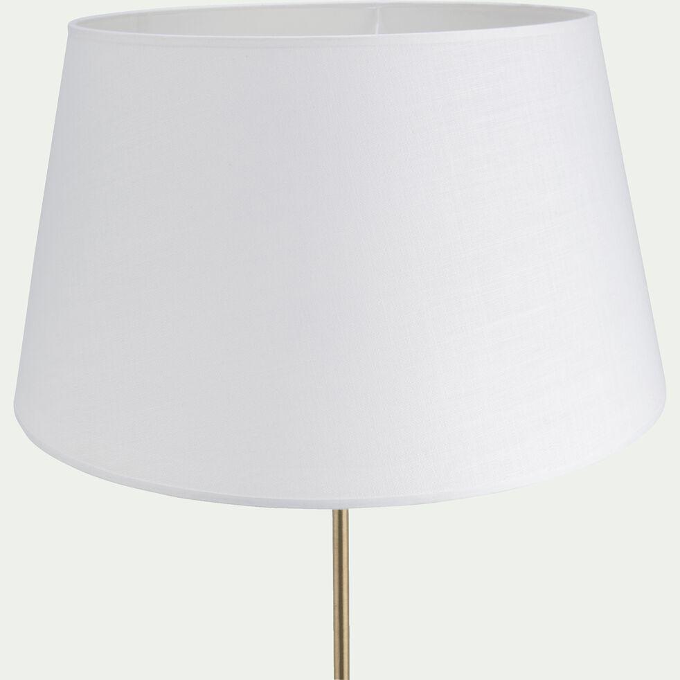 Abat-jour tambour en coton - D45cm blanc capelan-MISTRAL