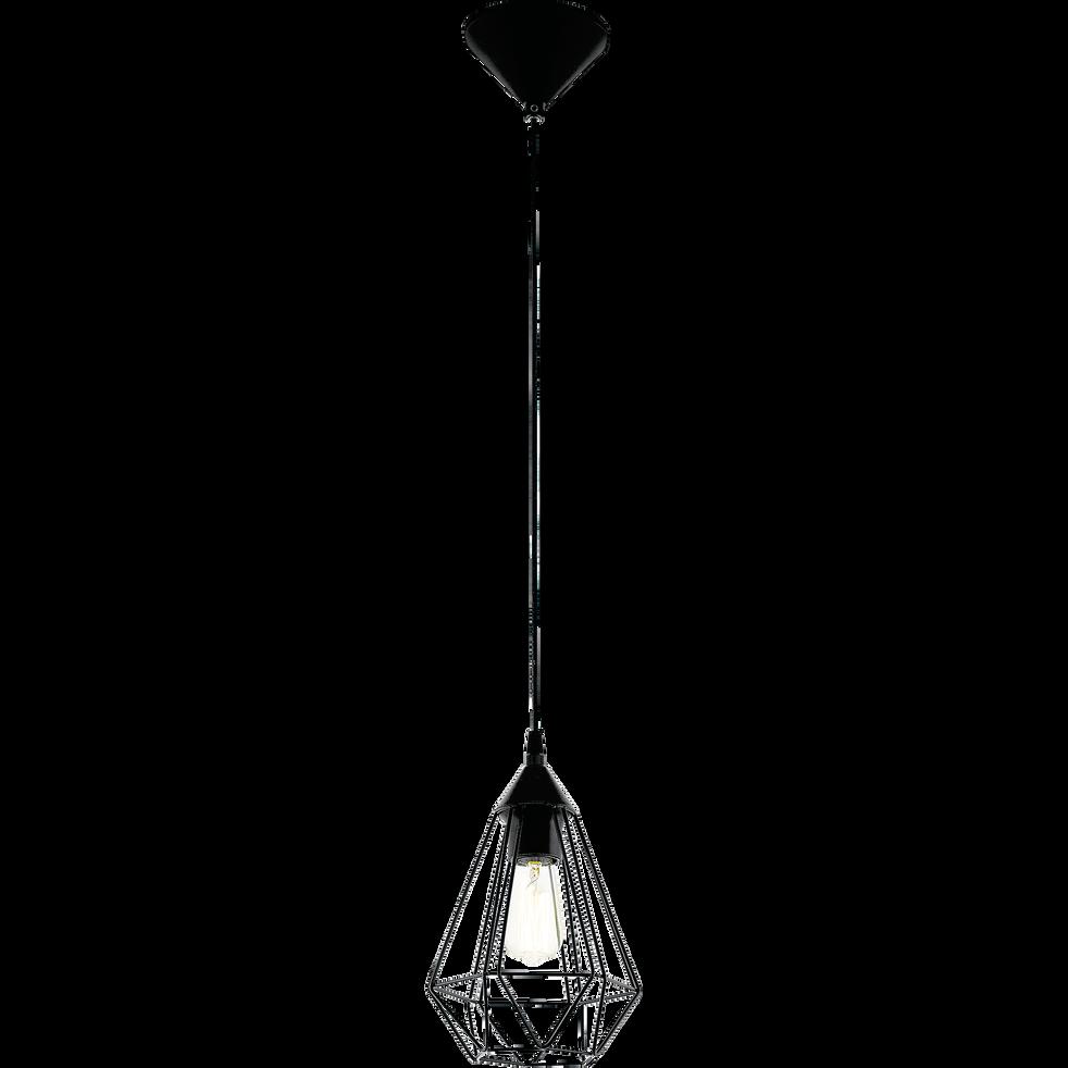 Suspension géométrique en acier noir D17,5cm-TARBES