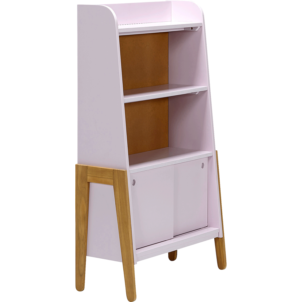 biblioth que en acacia pour enfant rose raphael tag res et biblioth ques enfant alinea. Black Bedroom Furniture Sets. Home Design Ideas