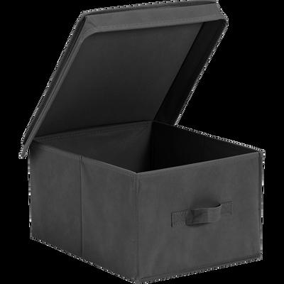 Boite de rangement intissé grise 35x28xh20cm (petit modèle)-IVY