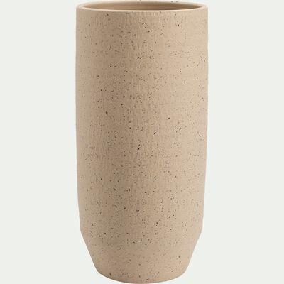 Vase en terre cuite -  blanc cassé H50cm-PENTA