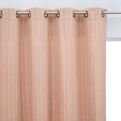 Rideau à œillets en coton ajouré - rose argile 140x250cm-BYBLOS