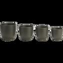 Pot vert cèdre mat en céramique (plusieurs tailles)-TUSCA