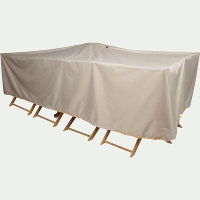 Protection taupe pour table de jardin (L310xP130xH60cm)-Housse
