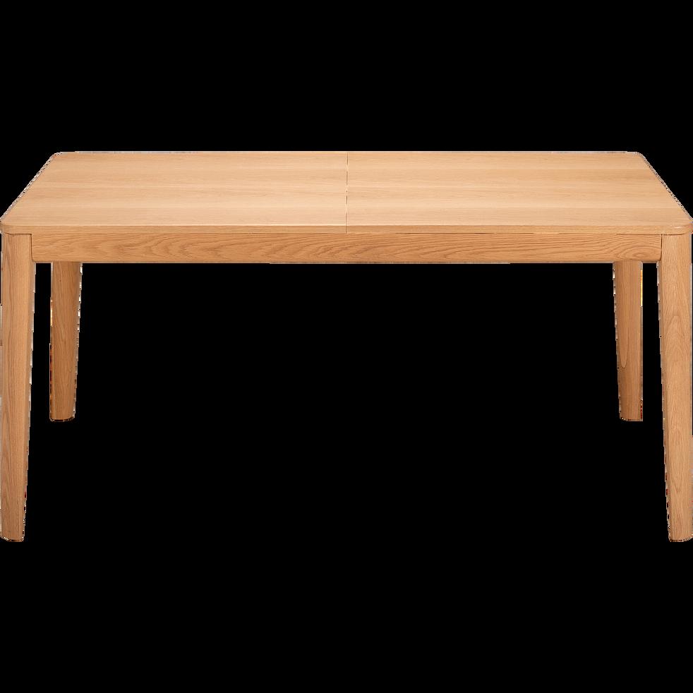 Table de repas extensible plaquée chêne - 4 à 8 places-ESTILA