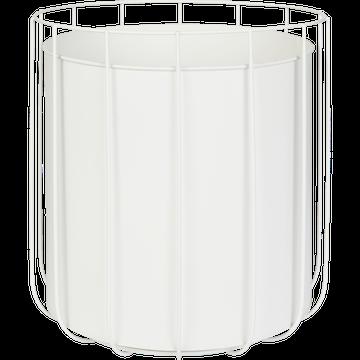Cache-pot en métal blanc H31xD28cm-TAZA