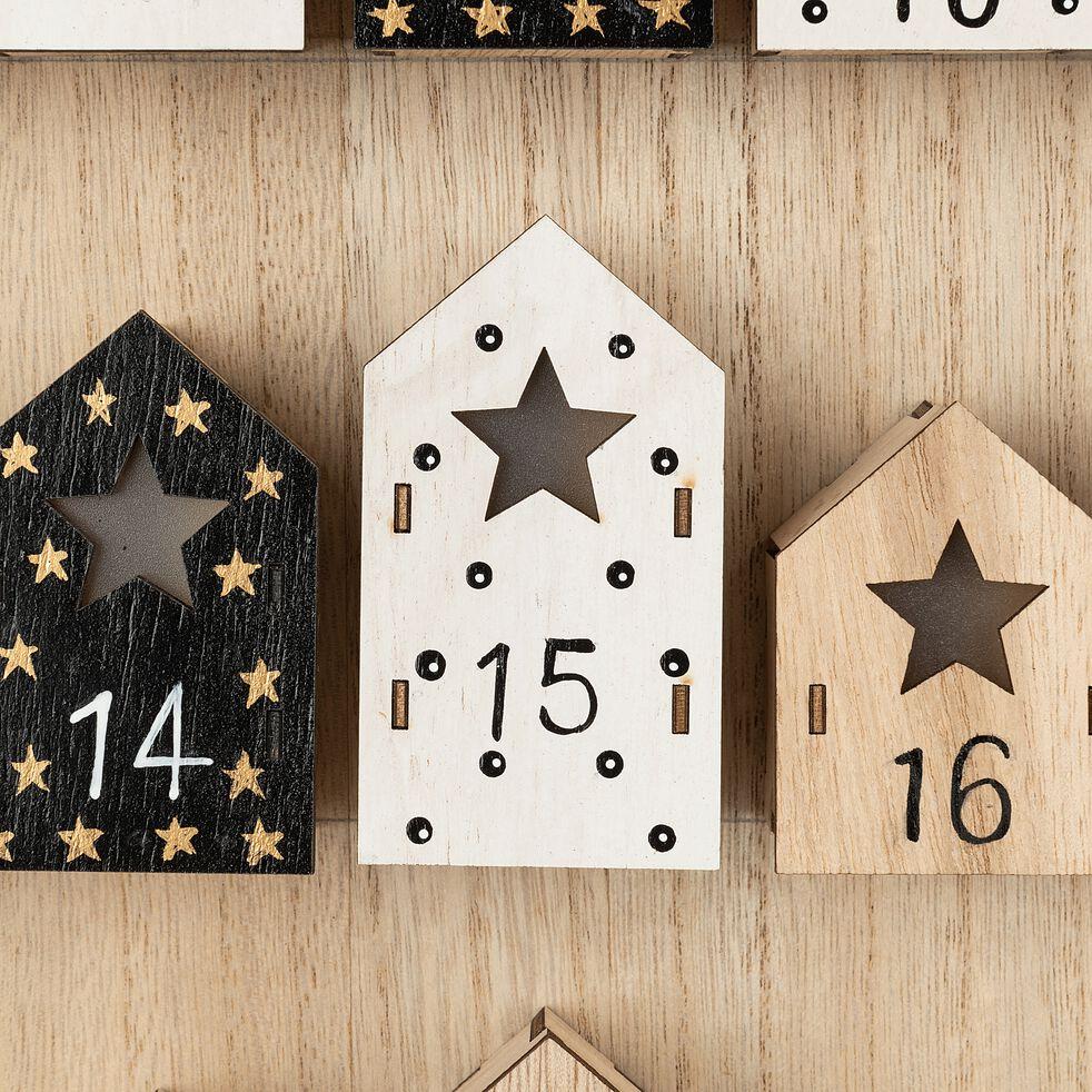 Calendrier de l'avent en bois H45cm   DOMUM   déco de Noël   alinea