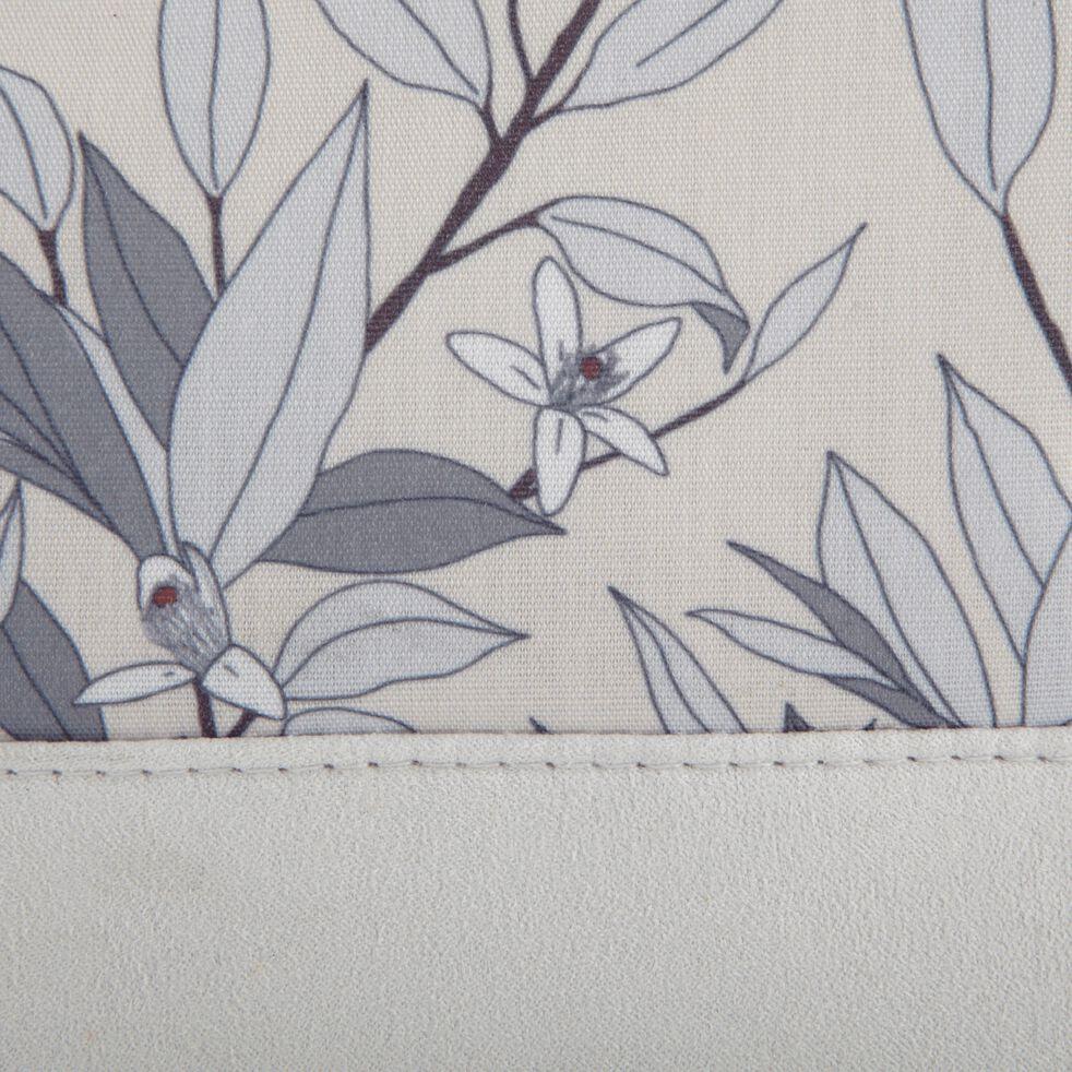 Trousse de toilette en polycoton motif Fleurs d'oranger - beige 15x20cm-ALEXIA