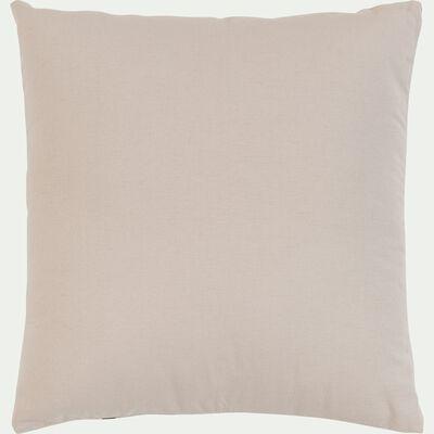 Coussin à motifs - Marron 45x45cm-SUR LA PLACE