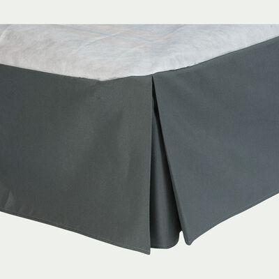Cache-sommier gris anthracite 32 cm - 160x200 cm-OPALINE