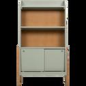 Bibliothèque en acacia pour enfant vert olivier-RAPHAEL