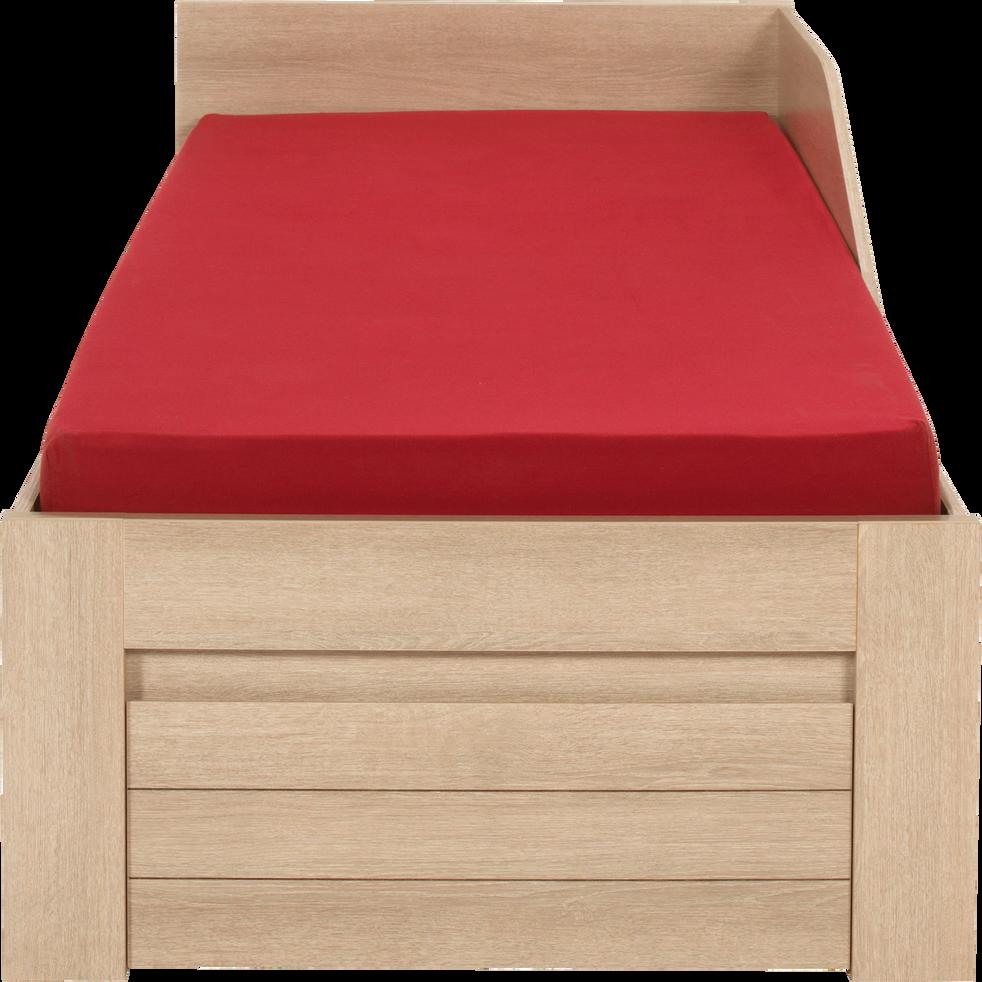 Lit 1 place couleur bois clair avec tiroirs - 90x200 cm-NATURELA