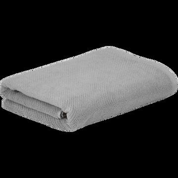 Drap de bain gris restanque 90x150cm-COLINE
