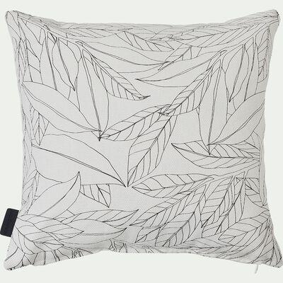 Coussin d'extérieur blanc à motif fleuri 40x40cm-Trayas