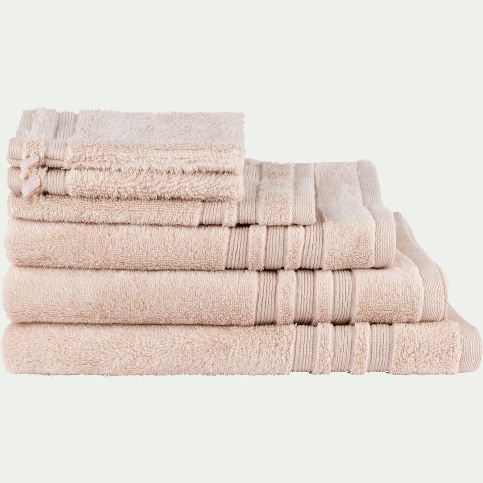 Linge de toilette rose grège-NOUN