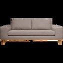 Canapé 3 places fixe en tissu argile-PICABIA