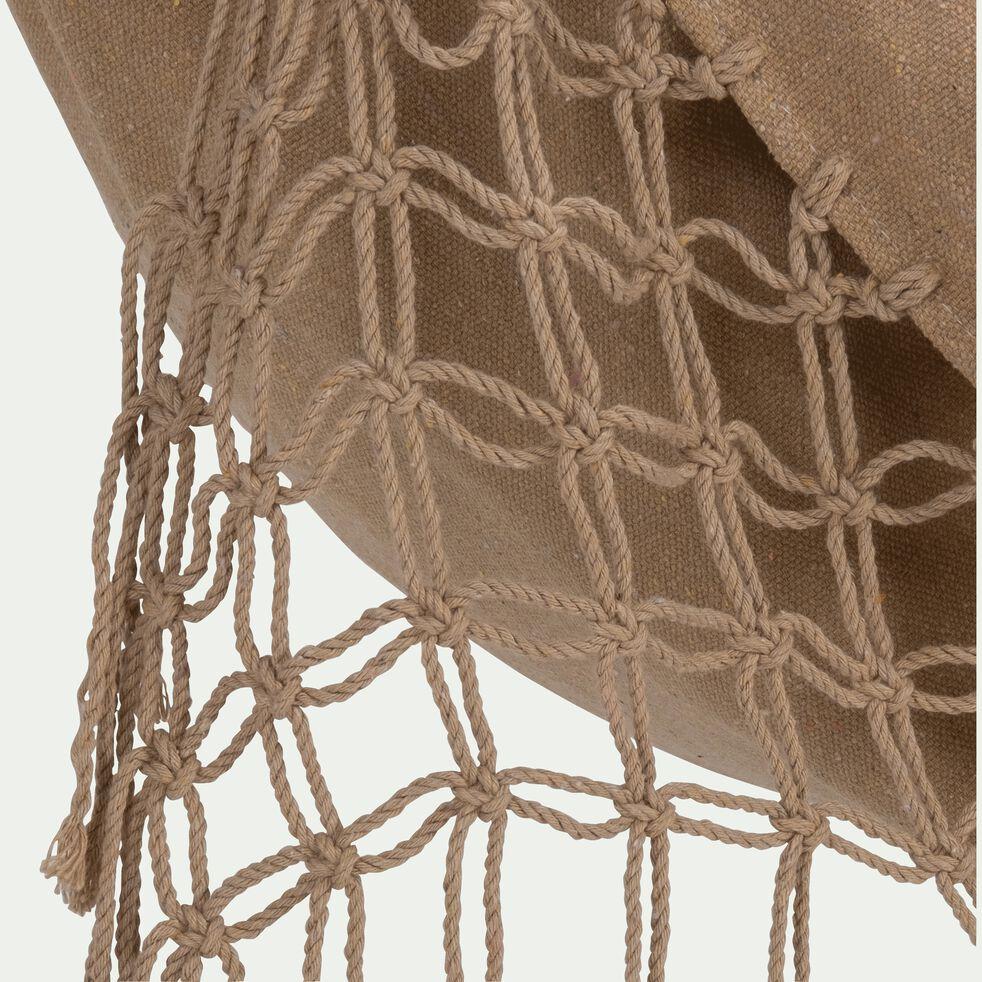 Hamac suspendu en tissu bège nèfle-ANDALI