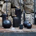 Lot de 8 bougies flambeaux - gris calabrun H18cm-HALBA