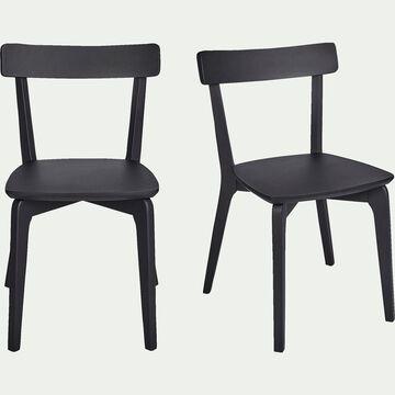 Chaise en bois noir calabrun-SUZIE