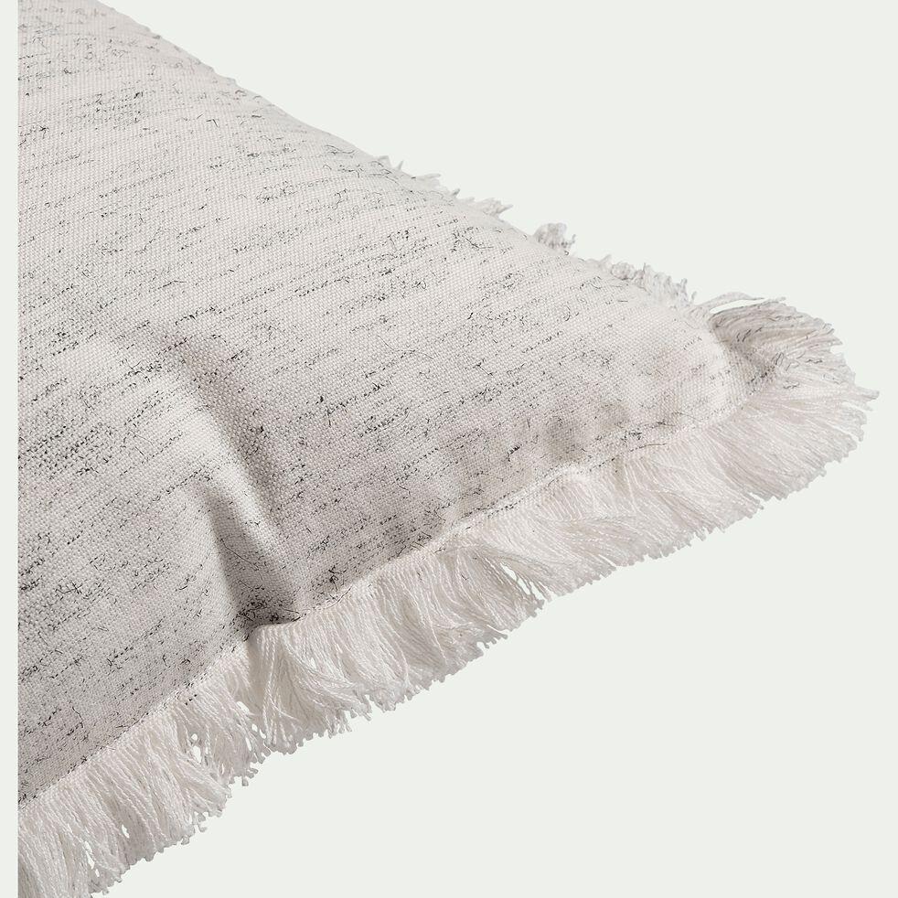 Coussin chiné en coton - blanc 40x40cm-ZHALE