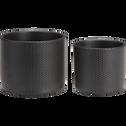 cache-pot gris anthracite en céramique H10xD12cm-ERA