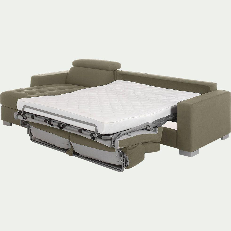 Canapé d'angle réversible convertible en tissu - taupe-Mauro