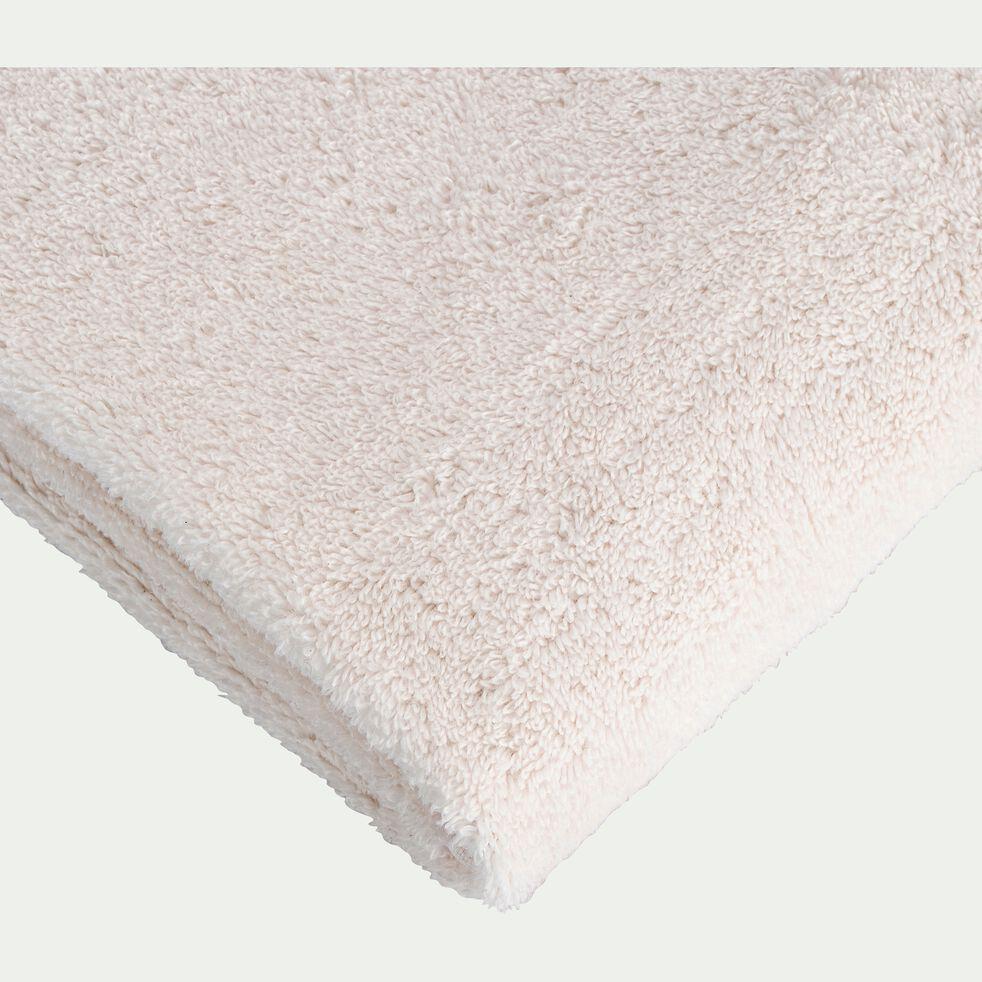 Drap de bain bouclette en coton - blanc ventoux 100x150cm-Noun