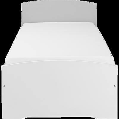 Lit 1 place Blanc - 90x200 cm-CAMILLE