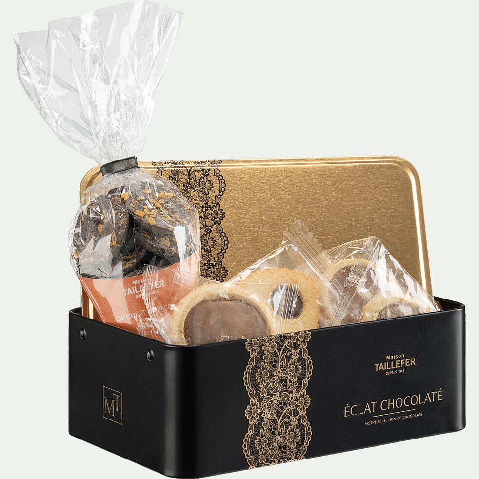 Coffret cadeau boite métal assortiment de biscuits-ECLATS CHOCO