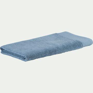 Drap de douche en coton peigné - bleu autan 70x140cm-Azur