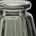 Vase en verre gris H10cm-Psiras