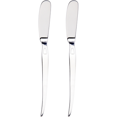 Coffret de 2 couteaux tartineurs en inox-STYL UP